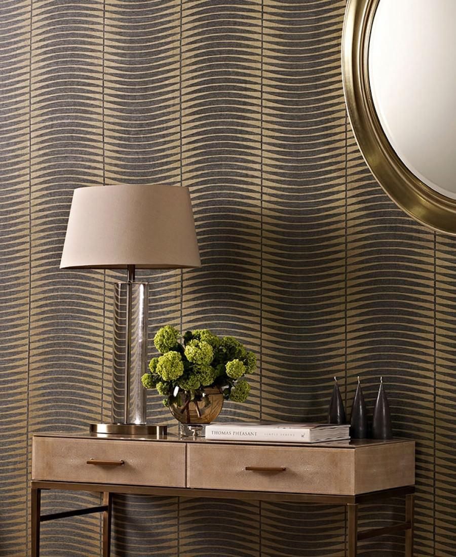 tapete sari perlgold grau tapeten der 70er. Black Bedroom Furniture Sets. Home Design Ideas