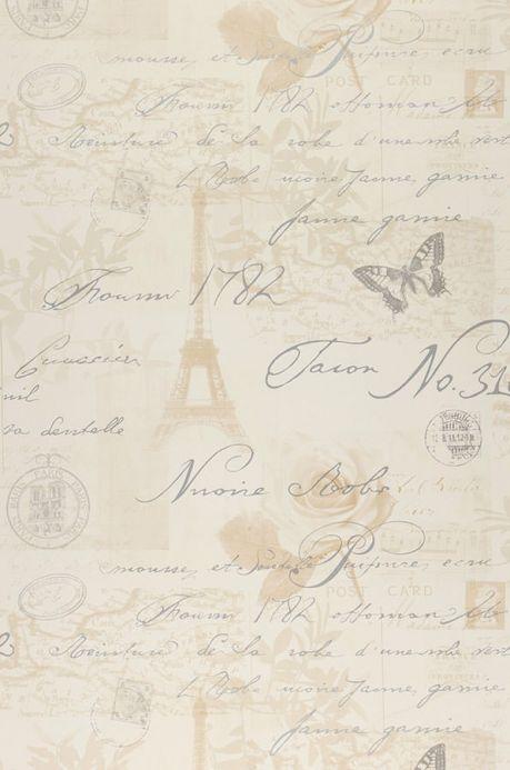 Archiv Carta da parati Estella beige marrognolo pallido Larghezza rotolo
