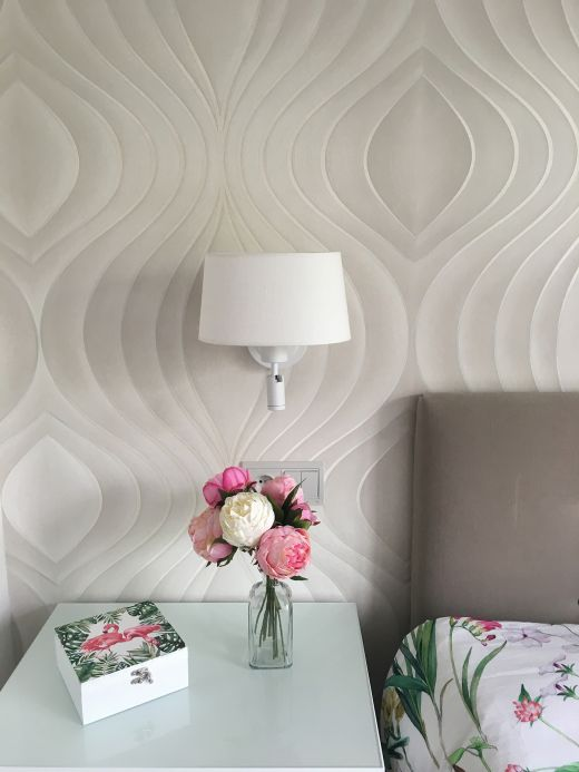 Modern Wallpaper Wallpaper Tirion cream Room View
