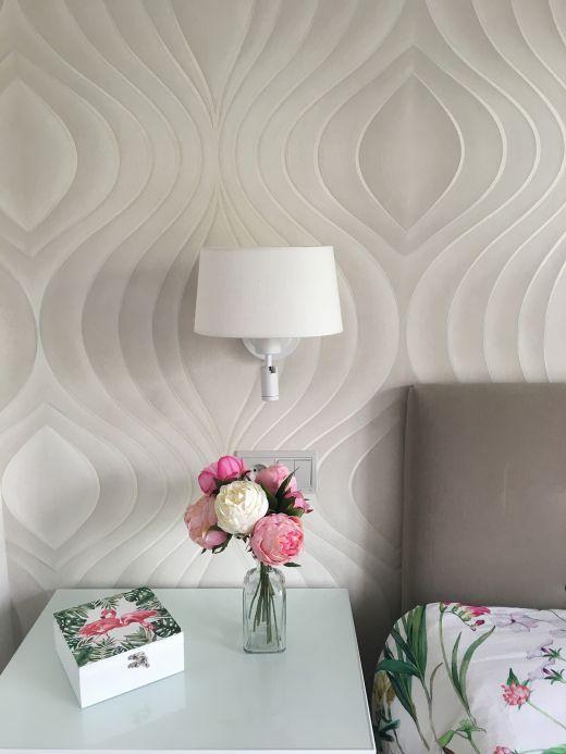 Papel de parede moderno Papel de parede Tirion branco creme Ver quarto