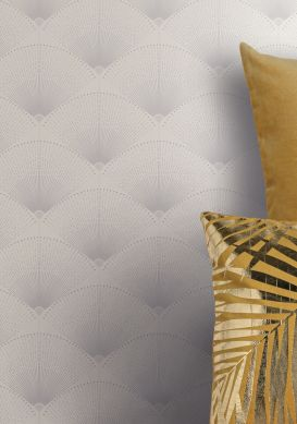 Papel de parede Hiromono branco Raumansicht