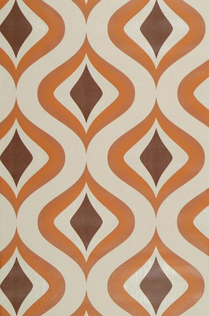 Triton ivoire clair brun orange i love the 70s - Papier peint annee 50 60 ...