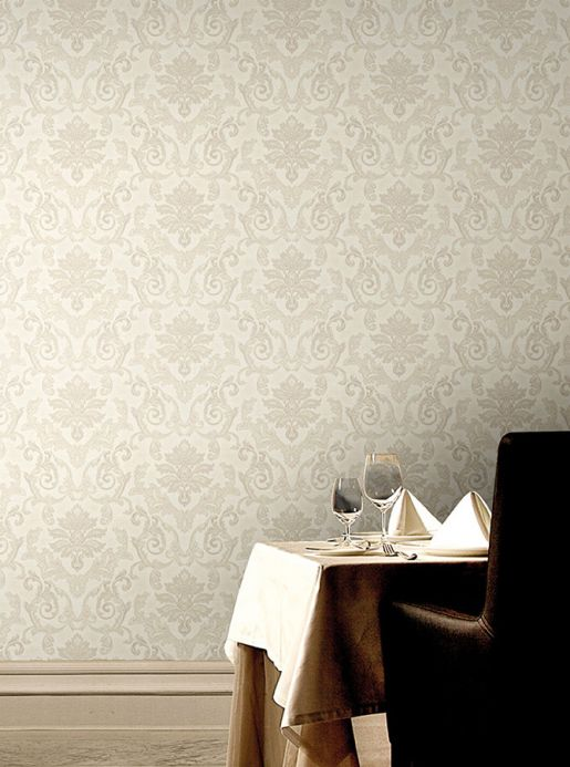 Archiv Wallpaper Obadia cream Room View