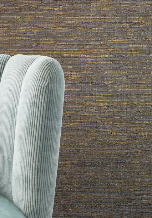 Natural Wallpaper Wallpaper Grasscloth 11 gold Room View