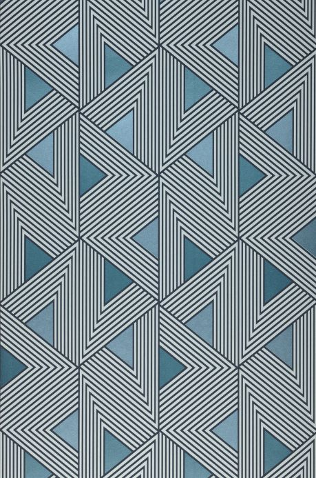 Geometric Wallpaper Wallpaper Elias shades of blue Roll Width