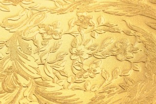 Wallpaper Talora Shimmering Floral damask Gold