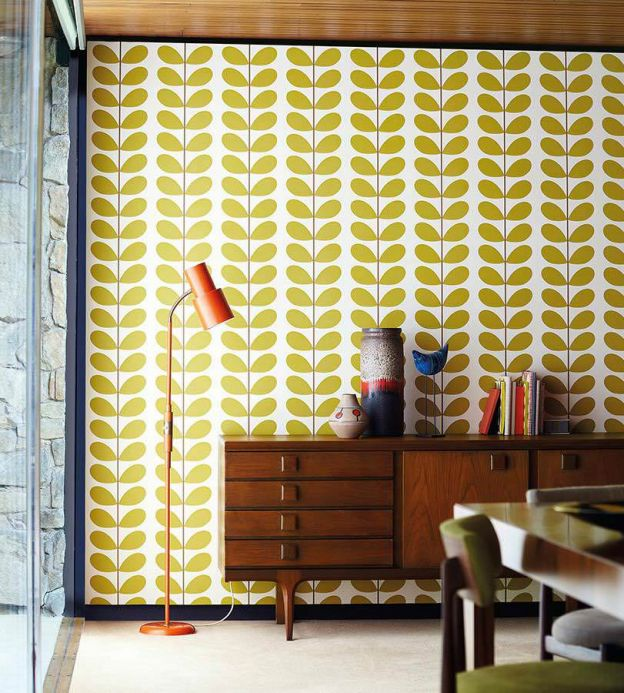 Design Wallpaper Wallpaper Osiris yellow green Room View