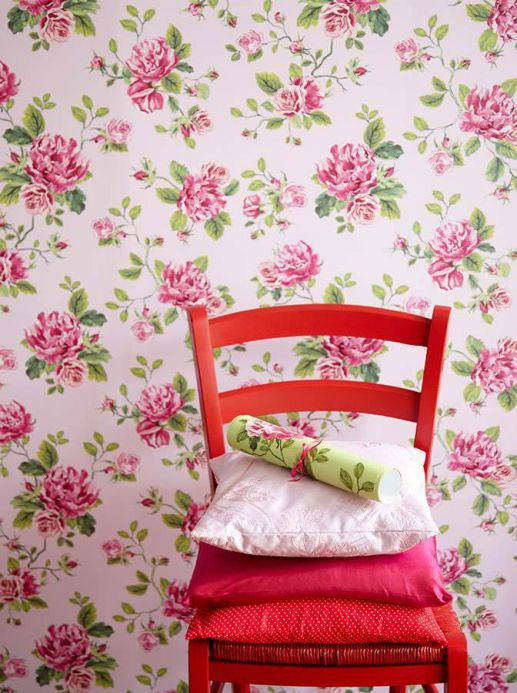 Archiv Wallpaper Isabelle heather violet Room View