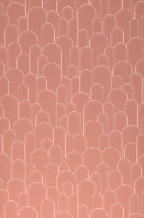 Papier peint art déco Papier peint Fabius bois de rose Largeur de lé