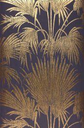 Papel pintado Lorella oro brillante