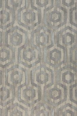 Papier peint Marno brun gris Largeur de lé
