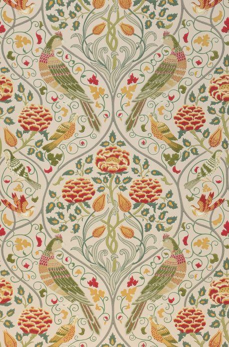 Papel pintado Art Nouveau Papel pintado Adina marfil claro Ancho rollo