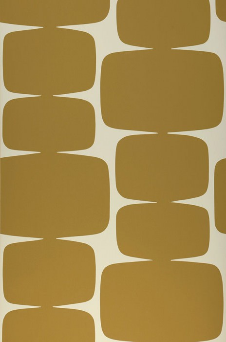 Wallpaper Waris Matt Graphic elements Cream Ochre