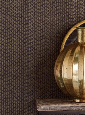 Papel pintado Kelem oro brillante Ver habitación