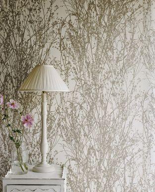 Wallpaper Amasa grey beige Room View