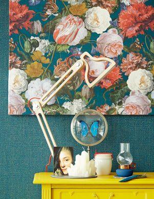 Papier peint Doriana bleu océan Vue pièce