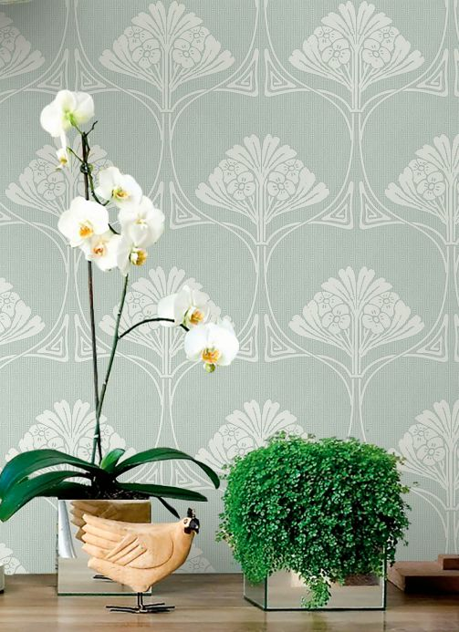 Classic Wallpaper Wallpaper Harmony mint turquoise Room View