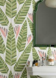 Papel pintado Jungle verde reseda