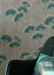 Papel de parede Tambika verde azulado