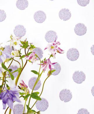 Wallpaper Corbetta blue purple glitter Room View