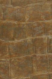 Papel de parede Croco 14 marrom azeitona