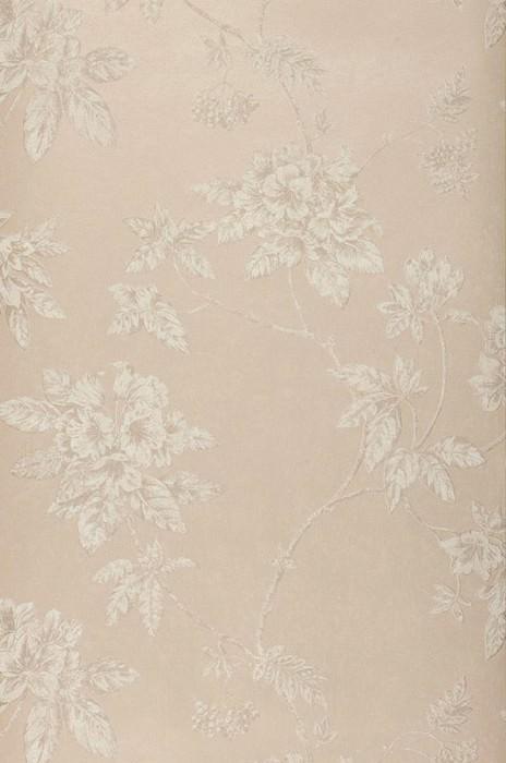 Wallpaper Tacita Matt pattern Shimmering base surface Leaves Blossoms Branches Light grey beige Grey beige shimmer Grey white