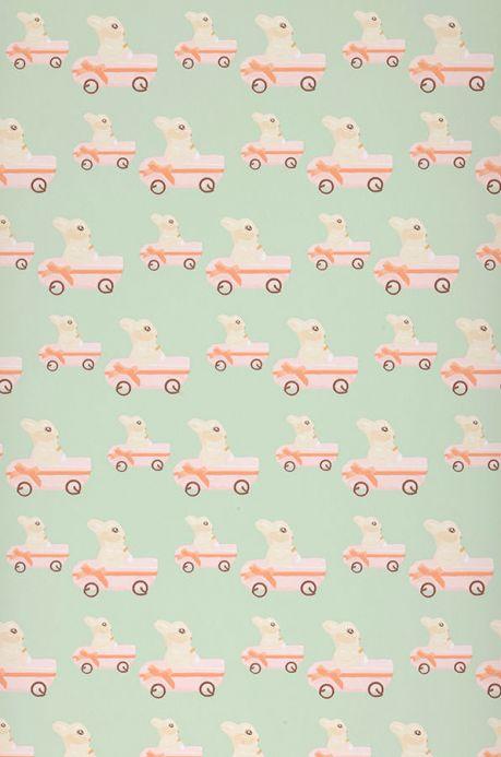 Archiv Wallpaper Sweet bunny pale orange Roll Width