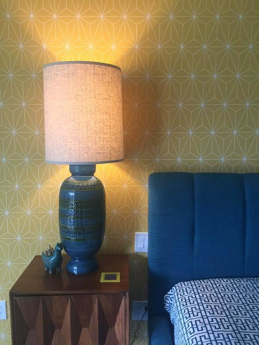 Wallpaper Morton Matt Prisms Golden yellow White