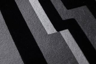 Wallpaper Lazarus Matt Graphic elements Anthracite grey Black Silver shimmer