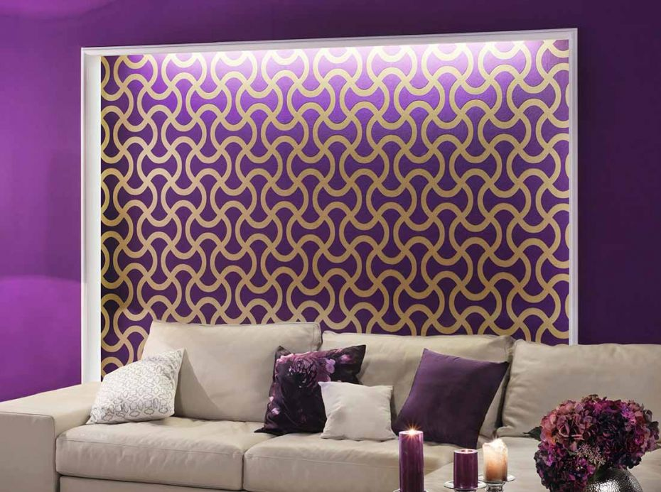 Archiv Wallpaper Beltone gold Room View