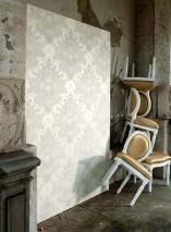 Wallpaper Malsumi Shimmering Art nouveau damask Cream Light beige grey