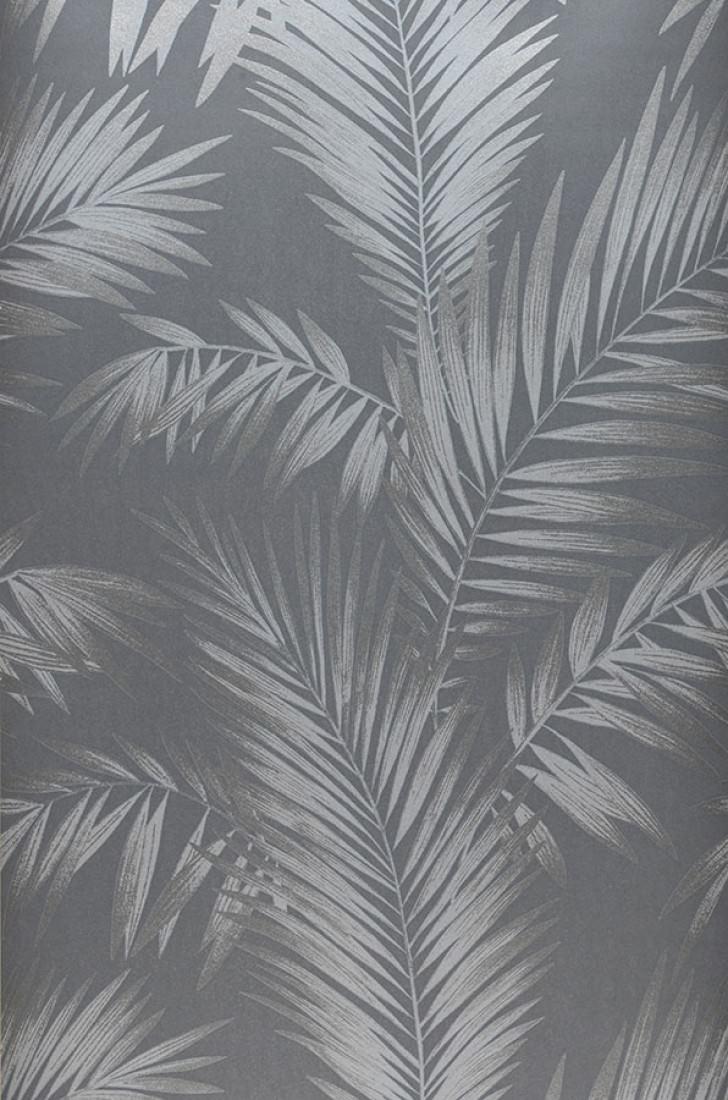Papier peint aria gris argent brillant gris argent papier peint des ann es 70 - Largeur d un rouleau de papier peint ...