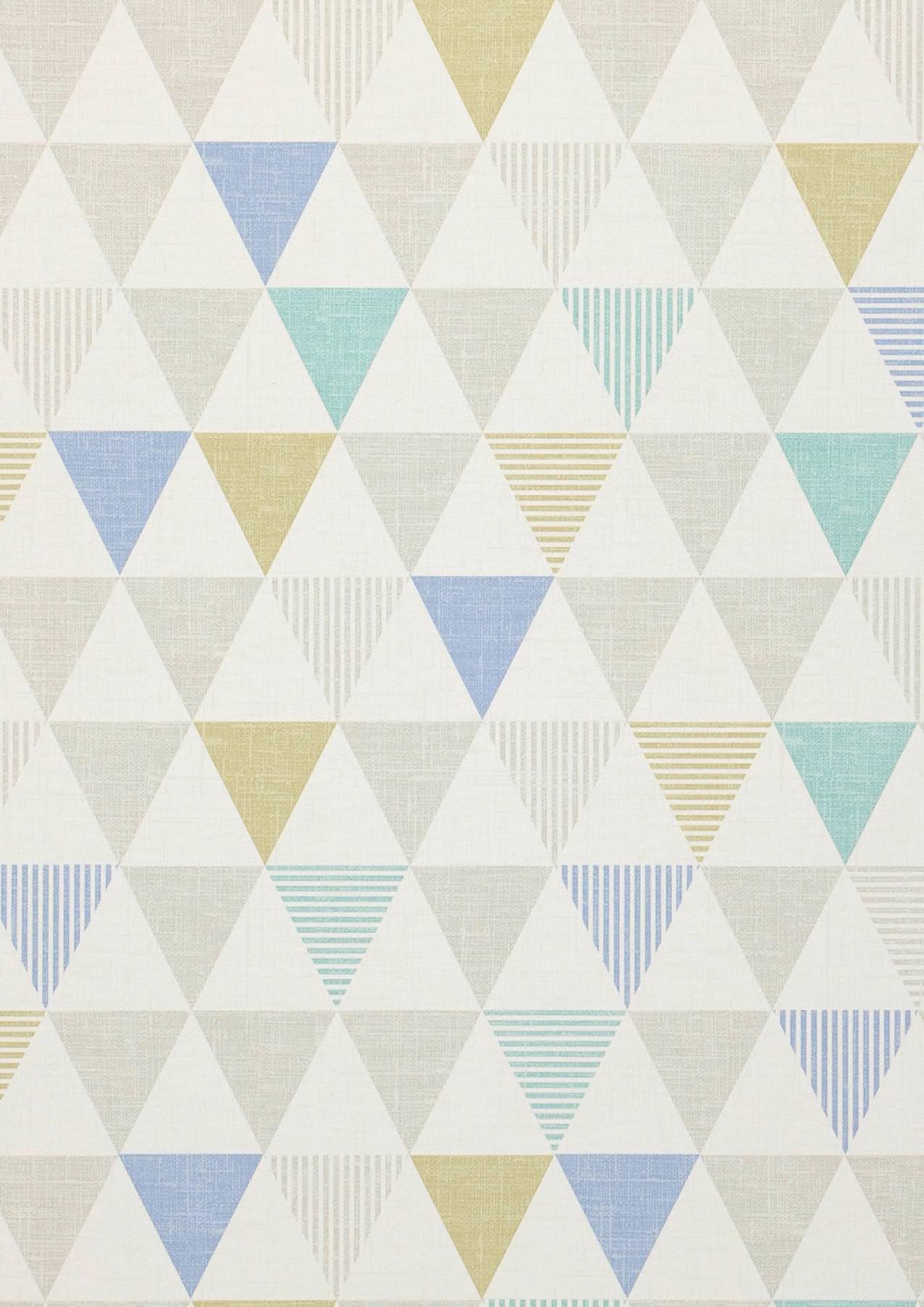 Tapete zenem grauweiss blau gr ngelb schimmer t rkis for Tapete nach hause
