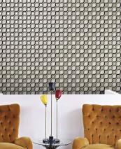 Wallpaper Weneg Hand printed look Matt Geometrical elements Pebble grey Anthracite grey Cream Grey Pearl beige
