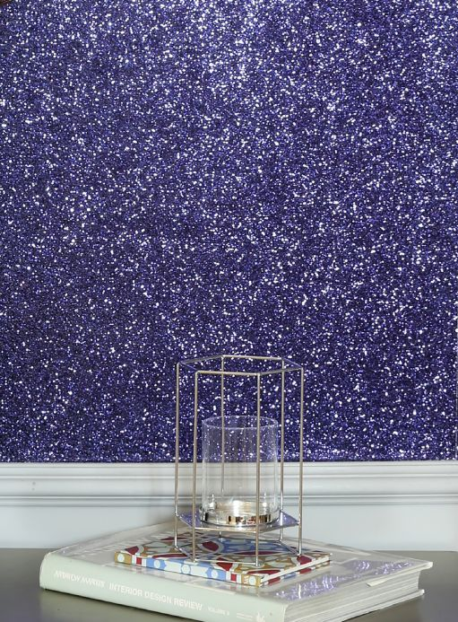 Funky Wallpaper Wallpaper Paragon dark blue glitter Room View
