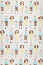 Wallpaper Dollhouse family pale yellow