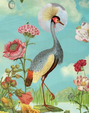 Wandbild Blomma Bunt Detailansicht