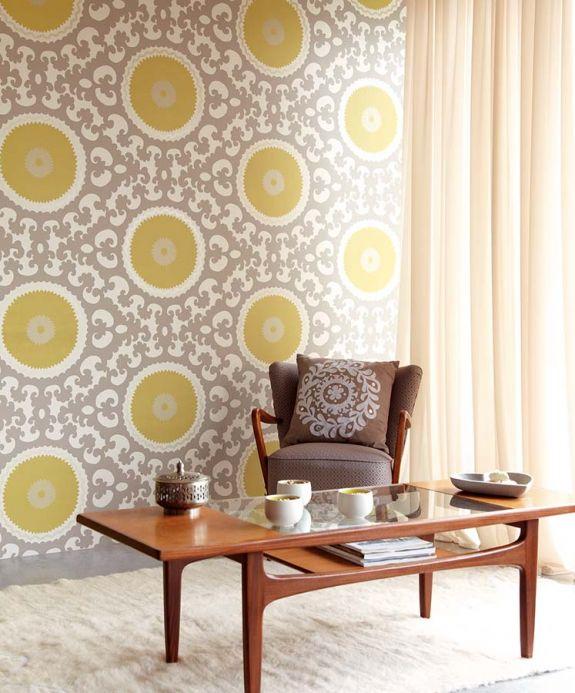 Archiv Papel de parede Aton amarelo limão Ver quarto