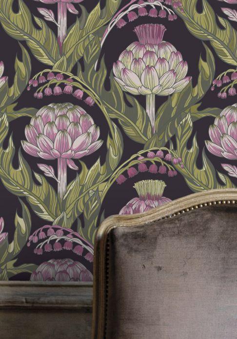Classic Wallpaper Wallpaper Havane violet tones Room View