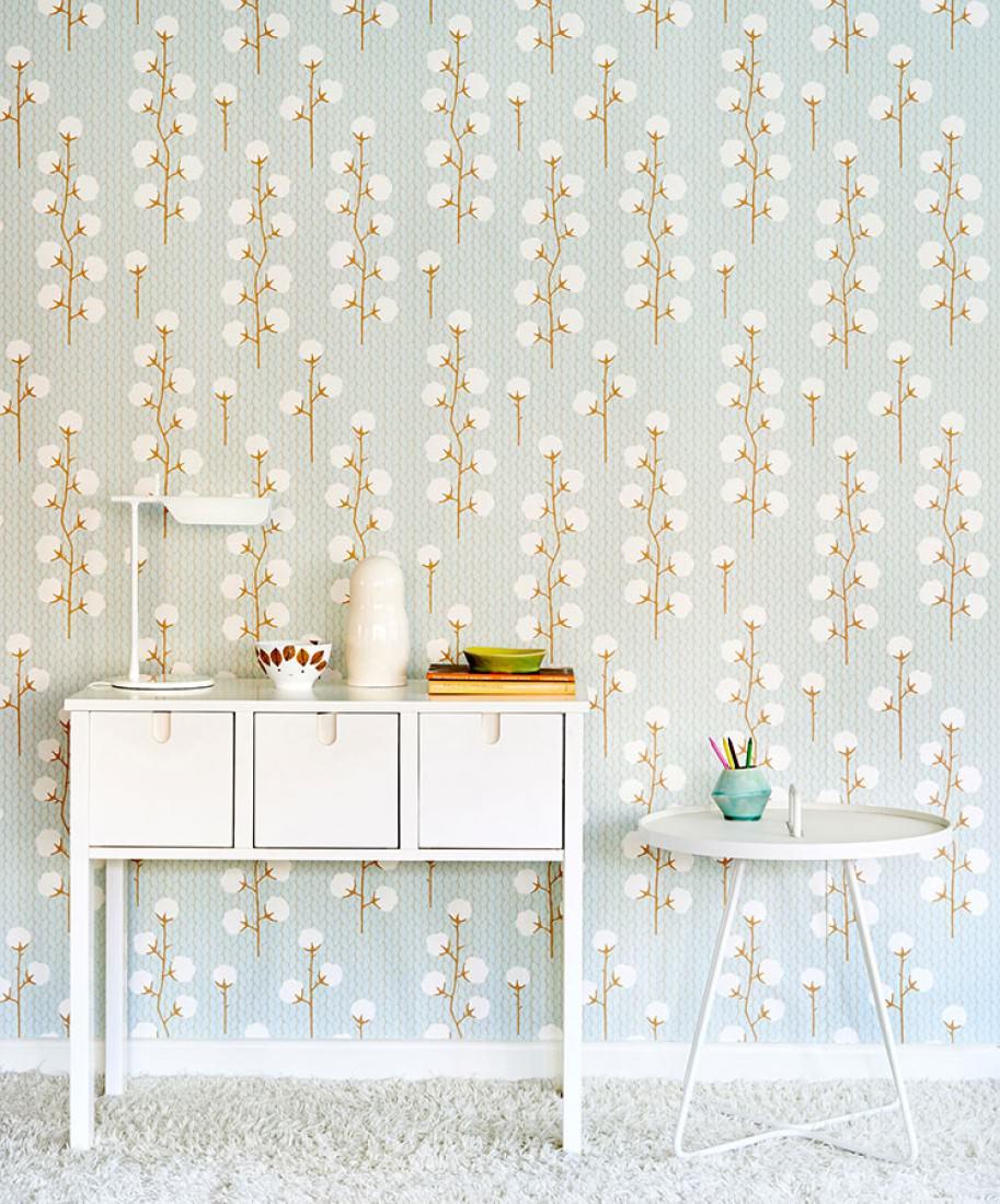 tapete sweet cotton hellpastellt rkis blassgraubraun cremeweiss ockerbraun tapeten der 70er. Black Bedroom Furniture Sets. Home Design Ideas