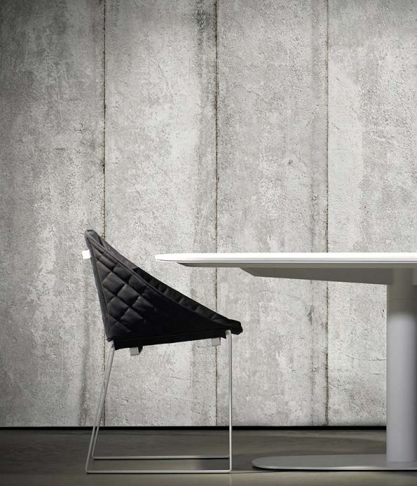 Industrial Style Wallpaper Wallpaper Concrete 03 white grey Room View