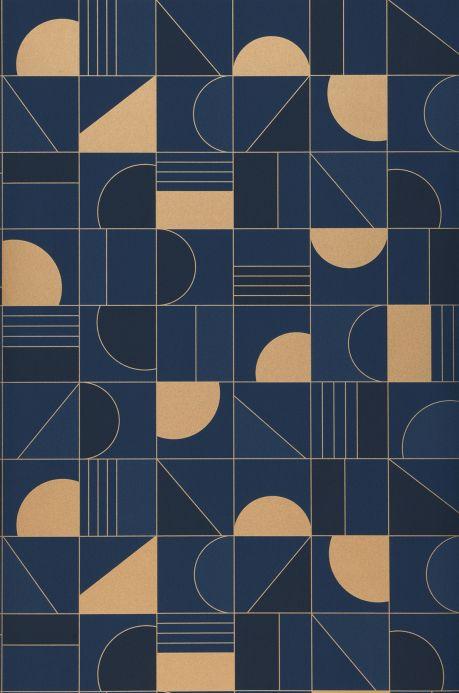Art Deco Tapeten Tapete Cubit Blau Bahnbreite