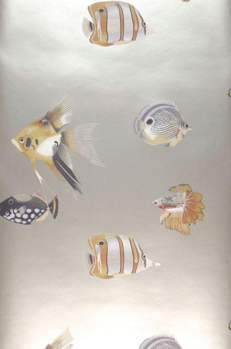 Papier peint brun Papier peint Servatius beige nacré clair Largeur de lé