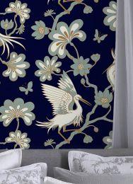 Papel de parede Malacca azul safira