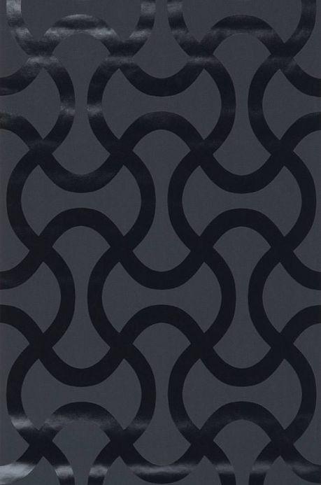 Archiv Papier peint Beltone noir laque Largeur de lé