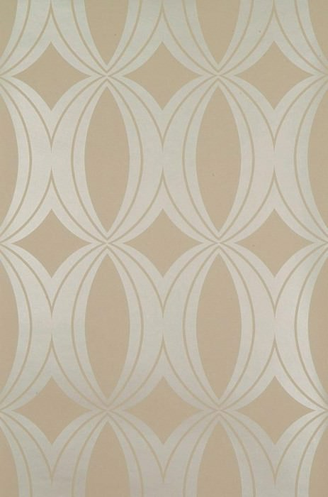 Papel de parede Athena Padrão brilhante Superfície base mate Elipses Areia Ouro branco