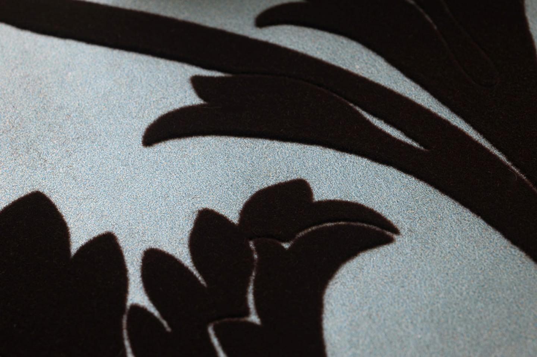 Papel pintado sherlock turquesa pastel perla lustre for Papel pintado marron chocolate