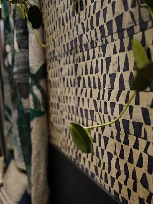 Geometric Wallpaper Wallpaper Tenpe anthracite grey Room View