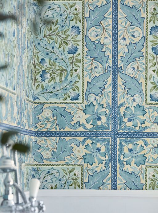 Classic Wallpaper Wallpaper Jella shades of blue Room View