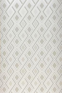 Papier peint Iroko blanc crème brillant Largeur de lé